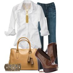 White Button Down, created by coombsie24 on Polyvore