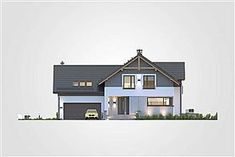 Elewacja frontowa projektu Jupiter V Bis Home Fashion, Mansions, House Styles, Home Decor, Houses, Projects, Decoration Home, Manor Houses, Room Decor