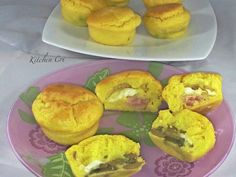 Muffin salati con impasto molle Plum Cake, Bruschetta, Muffin, Breakfast, Kitchen, Prune Cake, Morning Coffee, Cuisine, Kitchens
