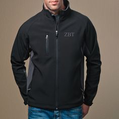 Campus Classics - New! ZBT Black and Gray Softshell Jacket: $66.95