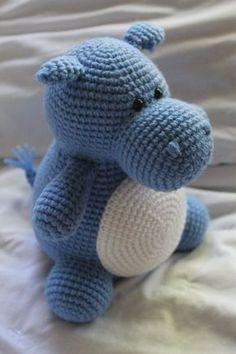 Hilda Hippo Crochet Amigurumi HÄKELANLEITUNG nur von daveydreamer