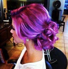 violet hair #ghdcandy #violet