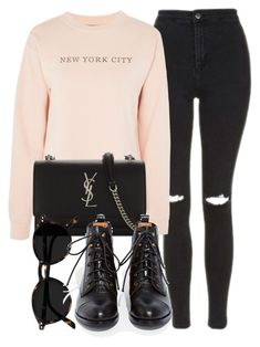 """Untitled #6992"" by laurenmboot ❤ liked on Polyvore featuring Topshop, Yves Saint Laurent and Jeffrey Campbell"