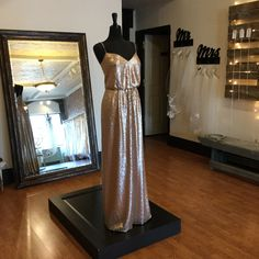 Size 14 (Runs Small)  Bridesmaids Dress   Wedding Day Style Sequin Bridesmaid Dresses, Bridesmaids, Prom Dresses, Formal Dresses, Dress Wedding, Wedding Day, Size 14, Sequins, Bridal