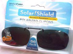 e937832f8fc0b FOSTER GRANT SOLAR SHIELD CLIP-ON POLARIZED SUNGLASSES 56 REC 5  SOLARSHIELD   Rectangular