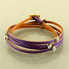 Rhinestone leather wrap bracelet- $30