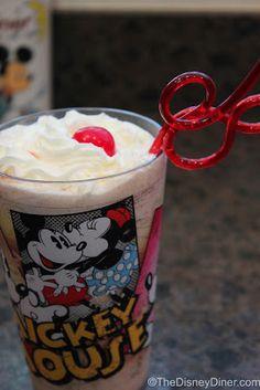 The Disney Diner: 50's Prime Time Cafe: PB & J Milkshake Recipe