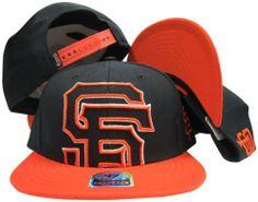 San Francisco Giants Black Out Two Tone Snapback Adjustable Plastic Snap Back Hat/Cap Twins. $29.99