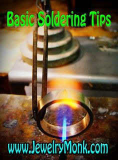 Today, Day 31, let's talk about some basic soldering techniques. There are all levels of jewelers visiting this site, and some of you have never soldered, or have done some very limited soldering. I want help you get over your hesitation of getting into the soldering world, and assure you that you can do it. First if you haven't read Day 5 on Safety and Torch Setup, I suggest you start there. www.JewelryMonk.com
