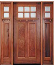 It's a classic. The classic Craftsman door from Pella Windows and Doors features matching sidelights, insulating glass and true-divided-light grilles to please Arts and Crafts fans.