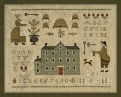 With thy Needle & Thread - The Bee Keeper's Sampler - just ordered this one. Can't wait to start stitching it!