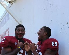 Funny photo op at UMass Media Day 2013