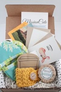 The MissionCute Box donates 50% of each month's net proceeds to a new Nonprofit every single month and they include locally sourced items from small businesses.  It's a box subscription on a mission.  #MissionCute