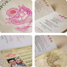 Vintage Passport Wedding Invitation (Mexico)