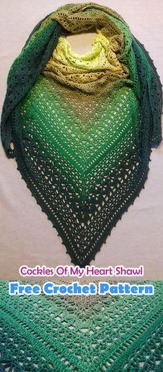 Cockles Of My Heart Shawl Free Crochet Pattern #crochet #crafts #shawl #fashion #style #idea #homemade #handmade #diy