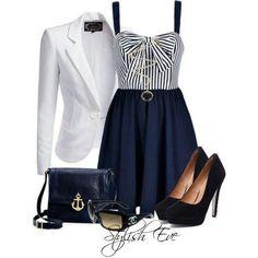 Women's Cotton Stripe Cardigan #nautical   I'd wear that ...