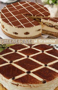 CHEESECAKE AL TIRAMISÙ SENZA COTTURA Tiramisu Cheesecake, Cheesecake Recipes, Torte Cake, Coca Cola, Something Sweet, Cheesecakes, Food For Thought, Ricotta, Mousse