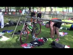 Using race footage from the Luray Triathlon, David Glover, MS, CSCS shows you how to transition smoothly (and quickly) from bike to run in a triathlon. Find more triathlon tips at http://enduranceworks.net. #triathlon #triathlontransition #luraytriathlon