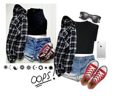 """Oops!"" by thaisa-tcs ❤ liked on Polyvore featuring mode, adidas Originals, Converse et Wildfox"