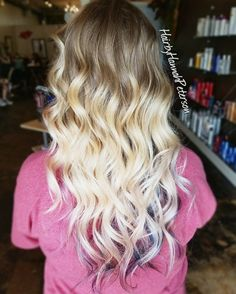 "34 Likes, 2 Comments - Hannah Hansen (@hairbyhannahpeterson) on Instagram: ""Natural to blonde ombre using @redken flashlift lightener. I added @matrix Bondulmin8 to prevent…"""