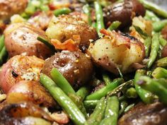 This makes a great side, either warm or at room temperature, for steaks and chicken. This dish is much beloved and called for in my catering jobs.