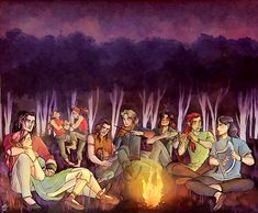 tosquinha:      Fëanorians being merry elves making music to the stars. From left to right:  Fëanor, Nerdanel, Amod, Amras, Curufin (with baby Celebrimbor), Celegorm, Caranthir, Maedhros and Maglor.