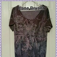 Lane Bryant Bling Top Knit Lane Bryant Top with Bling. Empire waist and bling buttons for decoration. Lane Bryant Tops Tees - Short Sleeve