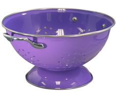 Calypso Basics 3 Quart powder coated  Colander, Purple for only $18.57 You save: $2.93 (14%)