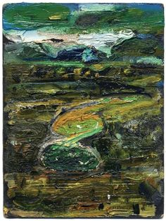 John Walker, Seal Point Series, Oil on bingo card, 7 x 5 inches Contemporary Landscape, Abstract Landscape, Landscape Paintings, Abstract Art, Abstract Paintings, Landscapes, John Walker, Walker Art, Chaim Soutine