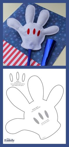 Going to the Fourth-of-July parade? Let Mickey lend you a hand waving on your favorite floats with a bright white felt glove that really stands out in the crowd. Mickey And Friends, Fourth Of July, Your Favorite, All Things, Mickey Mouse, Parties, Hollywood, Invitations, Couture