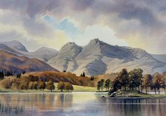 Original Watercolour Paintings and Signed prints of Snowdonia, North Wales, The Lake District, and Scotland by artist Chris Hull. Art Watercolor, Watercolor Painting Techniques, Watercolor Landscape Paintings, Landscape Drawings, Landscape Art, Scotland Landscape, Bergen, Mountain Landscape, Lake District