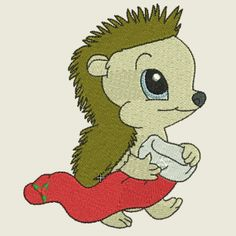 Christmas time hedgehog 06 | Spookies Treasures