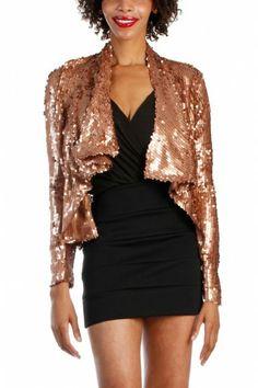 Sequin Jacket - Bronze Gold