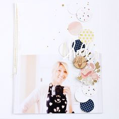 Hello Hello   Amy Yingling Scrapbook Examples, Scrapbook Page Layouts, Scrapbook Supplies, Scrapbook Paper, Card Making Inspiration, Layout Inspiration, Single Pic, Gossamer Blue, Project Life Album