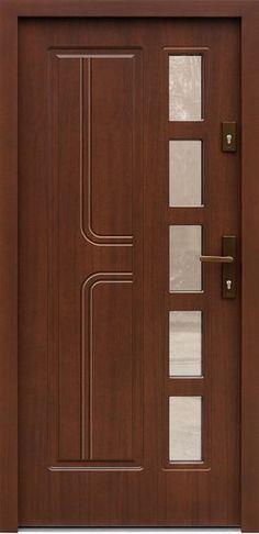 Drewniane wejściowe drzwi zewnętrzne do domu z katalogu modeli klasycznych wzór 541s8
