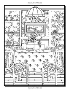Interior Designs: An Adult Coloring Book with Beautifully Decorated Houses, Inspirational Room Designs, and Relaxing Modern Architecture: Jade Summer: 9781542786409: Amazon.com: Books