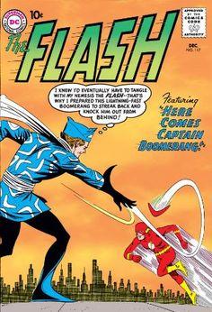 The Flash, vol. 117 - Captain Boomerang - Wikipedia, the free encyclop. Dc Comic Books, Vintage Comic Books, Vintage Comics, Comic Book Covers, Flash Comics, Dc Comics Art, Captain Boomerang, Superman Art, Silver Age Comics