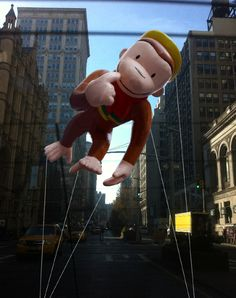Macy's Thanksgiving Day Parade Balloons-Curious George