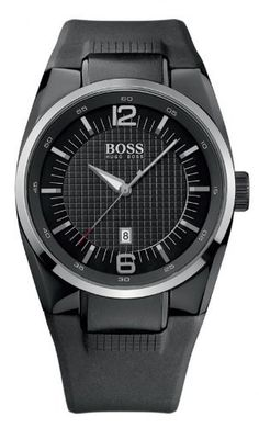 Hugo Boss Black 1512451 Black Silicon Men's Watch Hugo Boss. $289.99. Hands:	Luminuous, Gray Color. Calendar:	Date, displays at 6 o' clock. Functions:	Hours, Minutes, Seconds, Date. Movement:	Quartz. Crystal Material:	Mineral