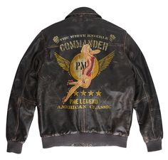 Original MA-1 PME Legend Bomber - 'White Knuckle' hand-painted Nose Art series by Josh Flight Jackets