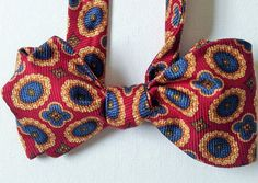Silk Bow Tie - HAPPY JOE Preppy - One-of-a-Kind, Handcrafted for Men - Freestylew
