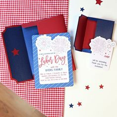 DIY Labor Day BBQ Invitation - Invite your guests to a 4th of July bash, Labor Day BBQ, or a Memorial Day picnic  | Kim Byers