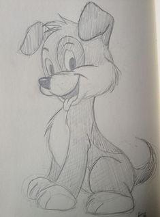 My Disney drawing - Dog sketch. By Yenthe Joline. - My Disney drawing – Dog sketch. By Yenthe Joline. Easy Drawings Sketches, Cute Disney Drawings, Cool Art Drawings, Cartoon Sketches, Pencil Art Drawings, Animal Sketches, Animal Drawings, Dog Drawing Simple, Dog Sketch Easy