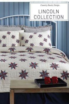 Lincoln A Patriotic Americana Country Rustic Quilt Collection By Vhc Brands Home Decor Simply Chic