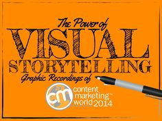 The Power of Visual Storytelling: Graphic Recordings of Content Marketing World 2014 by Content Marketing Institute via slideshare