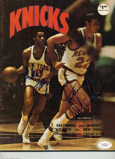 The Glide & Big D runnin' the show Pro Basketball, Basketball Pictures, Basketball Legends, New York Knickerbockers, Walt Frazier, Sports Figures, New York Knicks, Nba Players, Sneaker Brands