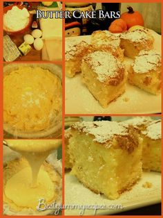 1 box yellow cake mix     1 egg    1/2 cup butter soft at room temperature     8 oz. Cream Cheese     2 eggs beaten     2 cups powdered...