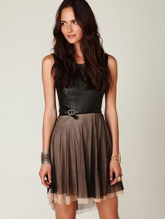 a great, feminine, versatile dress that has a ballet-inspire look (my fave).    free people Delphine mesh skirt, $29.95