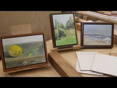 Art Lesson #16- A Simple Way to Frame Paintings on Panel - YouTube