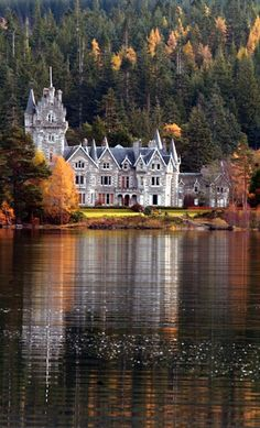 Glen Bogle Castle, Ardverikie Estate, Kinlochlaggan, Inverness, Scotlandaka Glenbogle House, from the village of Laggan, in the region of Badenoch in Scotland. This castle was used on the set of the BBC TV series Monarch of the Glen.